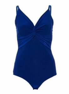 Womens *Quiz Royal Blue Knot Bodysuit, Blue