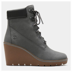 Timberland Paris Height 6 Inch Boot For Women In Grey Grey, Size 6.5
