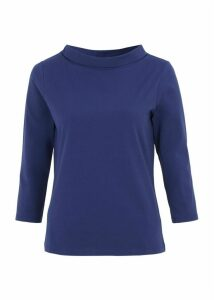 Three Quarter Sleeve Audrey Tee French Navy
