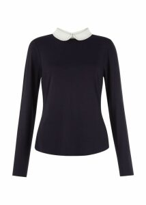 Top Stitch Sasha Top Navy Ivory