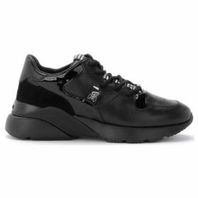 Hogan  H385 Active One sneaker in black suede leather  women's Shoes (Trainers) in Black