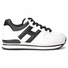 Hogan  sneaker H222 model in white leather with H and black leather  women's Shoes (Trainers) in White