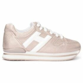 Hogan  sneaker model H222 in pink metallic leather with H in white  women's Shoes (Trainers) in Gold
