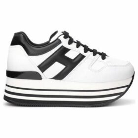 Hogan  sneaker Maxi H222 model in white leather with black side H  women's Shoes (Trainers) in White