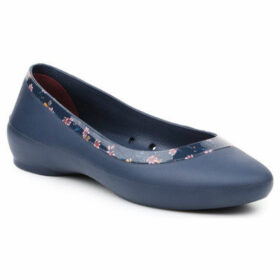 Crocs  lina shiny graphic flat 204855-4HJ  women's Shoes (Pumps / Ballerinas) in Blue