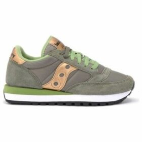 Saucony  sneaker Jazz model in suede and olive green fabric  women's Shoes (Trainers) in Green