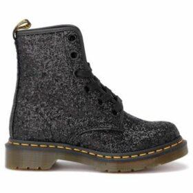 Dr Martens  Anfibio 1460 in pelle glitterata nera  women's Mid Boots in Black