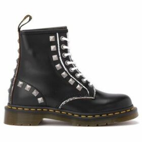Dr Martens  Anfibio 1460 in pelle nera con borchie  women's Mid Boots in Black