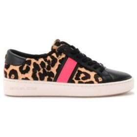 MICHAEL Michael Kors  sneaker in animalier pony and black leather  women's Shoes (Trainers) in Beige