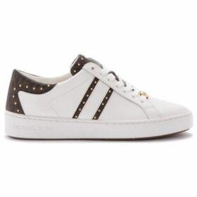 MICHAEL Michael Kors  Keaton sneaker in white leather and branded details  women's Shoes (Trainers) in Brown