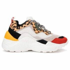 Steve Madden  Antonia-made by sneaker in multicolor suede with leopard-print  women's Shoes (Trainers) in Other