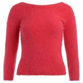 Roberto Collina  Magenta red sweater with back v-neck  women's Sweater in Red