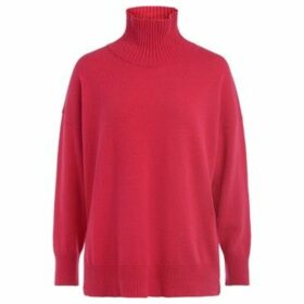 Roberto Collina  high collar sweater in strawberry-colored wool  women's Sweater in Red