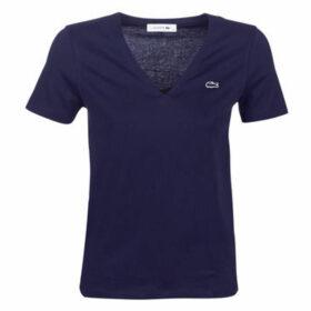 Lacoste  TF8908  women's T shirt in Blue