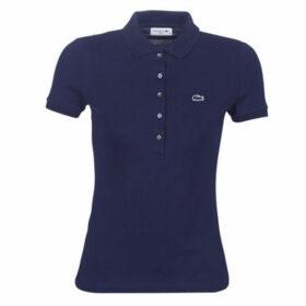 Lacoste  PF7845 SLIM  women's Polo shirt in Blue