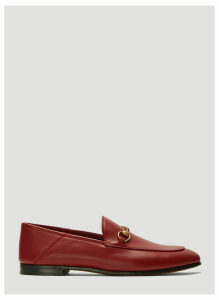 Gucci Brixton Leather Loafers in Red size EU - 40