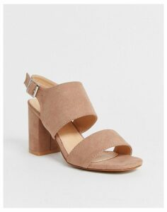 Park Lane two part heeled sandal in taupe