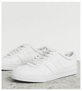 ASOS DESIGN Destine retro lace up trainers in white