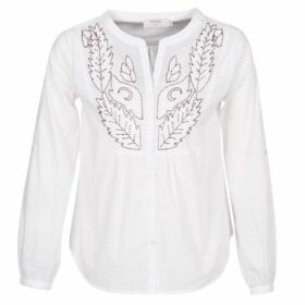 Cream  JOLINA  women's Blouse in White