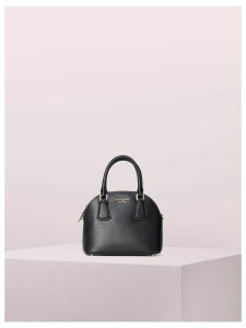 Sylvia Mini Dome Satchel - Black/Gold - One Size