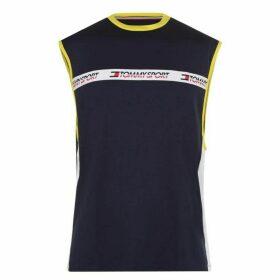 Tommy Sport Tommy Sleeveless Tape Logo T Shirt