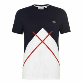 Lacoste Diagonal Block T Shirt