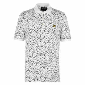 Lyle and Scott & Scott AOP Polo T Shirt Mens