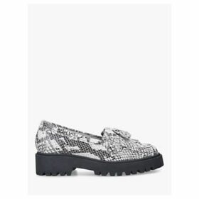 Kurt Geiger London Klarke Flatform Tassel Leather Loafers, Grey Print