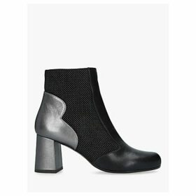 Chie Mihara Moira Block Heel Ankle Boots, Black/Multi