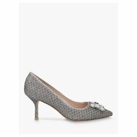Stuart Weitzman Kelsey Strass Lamé Embellished Court Shoes