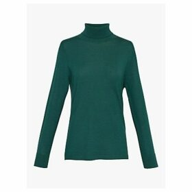 Gerard Darel Selma Polo Merino Wool Jumper, Green