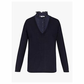 Gerard Darel Snow Merino Wool Jumper, Blue