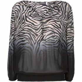 Mint Velvet Naomi Zebra Dip Dye Blouse