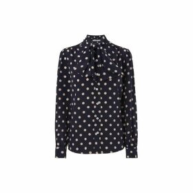 LK Bennett Evy Polka Dot Tie Shirt