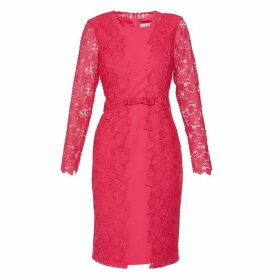 Gina Bacconi Summer Lace And Crepe Dress