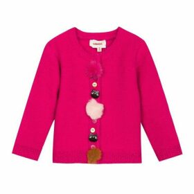 Catimini Knitted Cardigan With Decorative Buttons