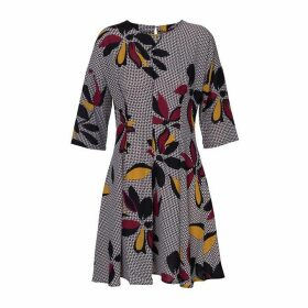 Carolina Cavour Print Dress With Flared Skirt