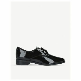 Gemelli lace-up patent faux-leather shoes