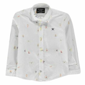 Hackett Long Sleeved Surf Print Shirt
