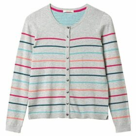 White Stuff Candy Stripe Cotton Cardi