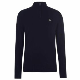 Lacoste Quarter Zip Knit Sweater