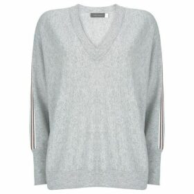 Mint Velvet Grey Side Stripe Batwing Knit