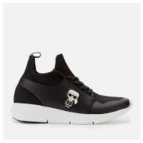 Karl Lagerfeld Women's Vitesse Iconic Mix Knitted Runner Style Trainers - Black