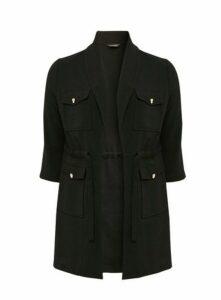 Black Utility Pocket Jacket, Black