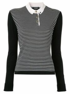 Chanel Pre-Owned knitted striped blouse - Black