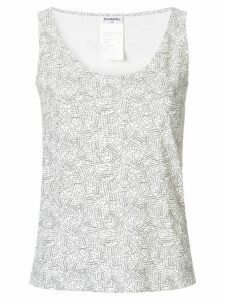 Chanel Pre-Owned CC logos sleeveless top - White