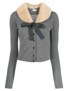 Valentino Pre-Owned tied detail buttoned cardigan - Grey