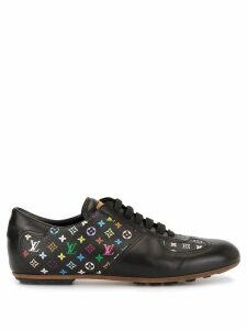Louis Vuitton Pre-Owned monogram leather sneakers - Black