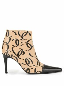 Chanel Pre-Owned CC short booties - NEUTRALS