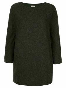 Hermès Pre-Owned cashmere boxy mini dress - Grey